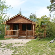 Mackinaw mill creek campground crazy4camping for Cabin rentals mackinaw city